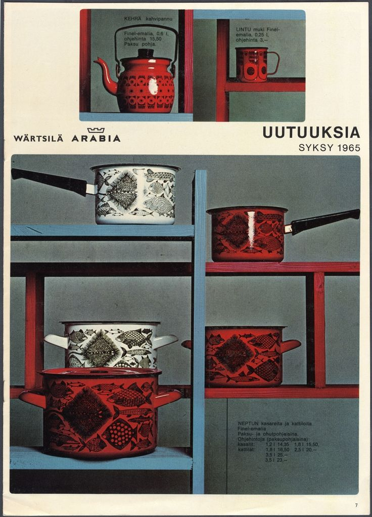 Arabia Wärtsilä Finland, retro and vintage