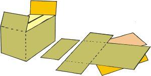 molde de papelão