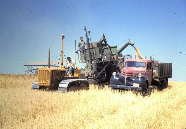 gleaner combine vintage pull type