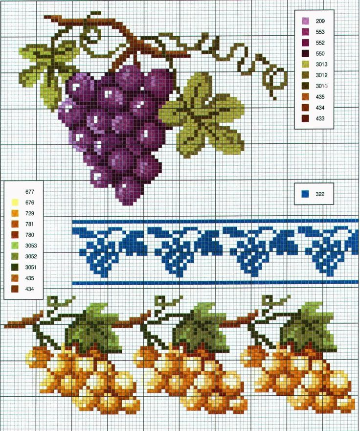 schema+a+punto+croce+bordi+e+cornici+-+uva+bianca+e+nera.jpg (1336×1600)