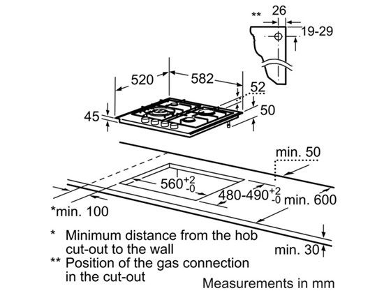 Gas Cooktop Specifications