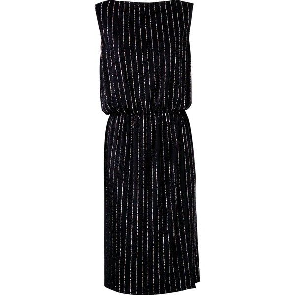 Marc Jacobs Glitter Pinstripe Dress ($160) ❤ liked on Polyvore featuring dresses, glitter dress, marc jacobs dress, pinstripe dress and marc jacobs