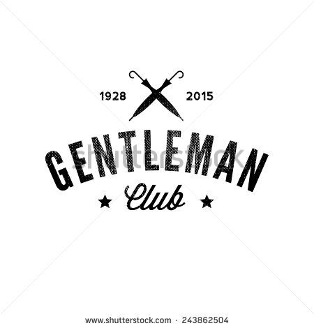 Gentleman club. Vintage logo