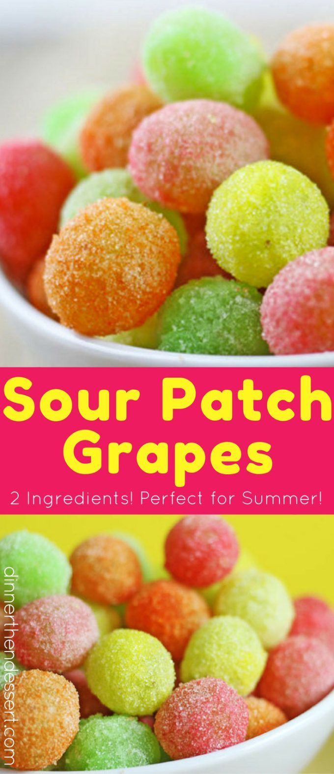 Sour Patch Grapes are a great sour candy fix! With only two ingredients!