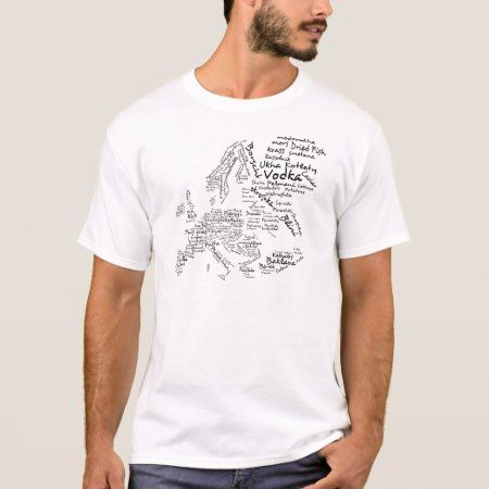 Food Map of Europe T-Shirt - tap, personalize, buy right now!