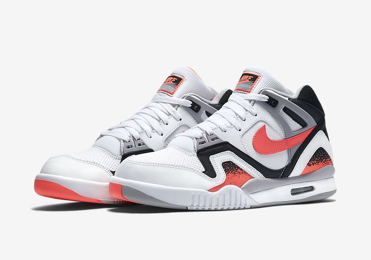 Andre Agassi's Nike Air Tech Challenge II returns in the Hot Lava colorway for January 25th, 2016 to celebrate the 25th anniversary. Style Code:318408-104