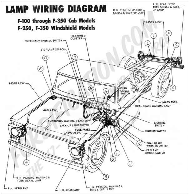 1974 Ford F100 Engine Wiring Diagram And Ford Truck Technical Drawings And Schematics Section H Ford Truck Electrical Wiring Diagram Diagram Design