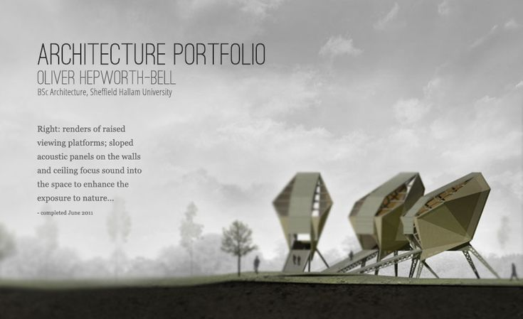 Architecture portfolio autocad render of building - Sheffield school of interior design ...