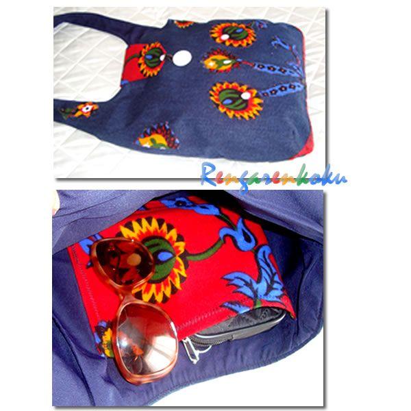 Rengarenkoku: pazen ve kot kumaşlardan tasarım çantalar