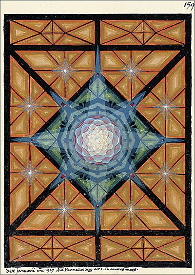 Carl Gustav Jung ~ illustration from Liber Novus (New Book) aka The Red Book, c.1914-30