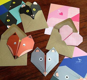 origami notepaper set : fox by lollipop designs | notonthehighstree…