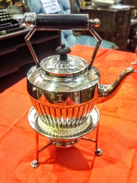 GA1095   -   Victorian stirling silver Turbor Tea Server c1870