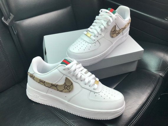 Custom Gucci Nike Air Force 1 | Nike shoes air force