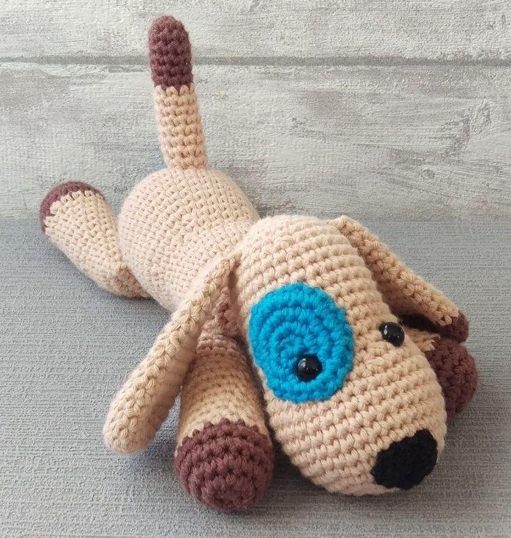 Kuscheltier Hund - Häkelanleitung - Häkelanleitungen bei Makerist