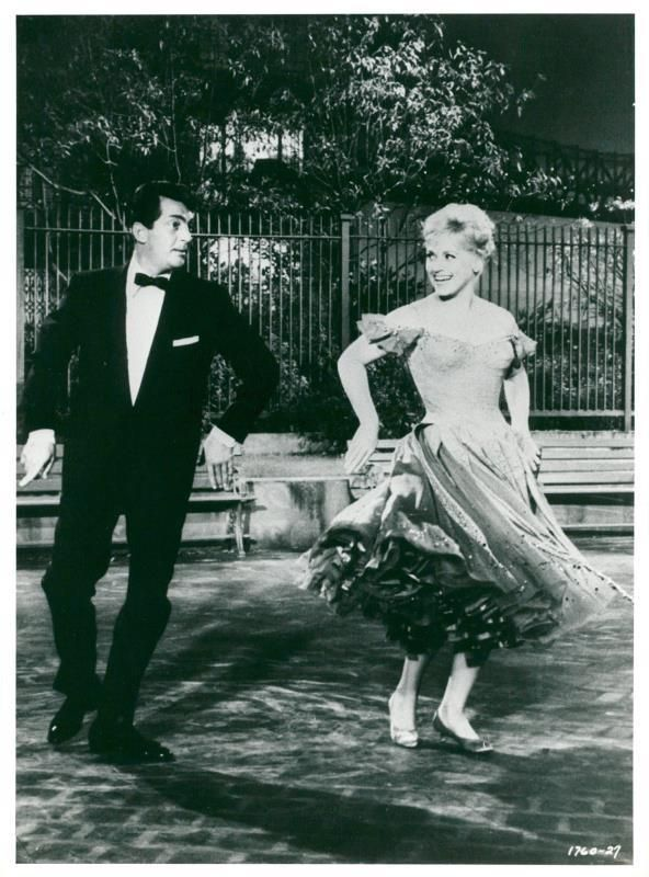 "Vintage photo of Dean Martin and Judy Holliday in the movie ""It's Calli"