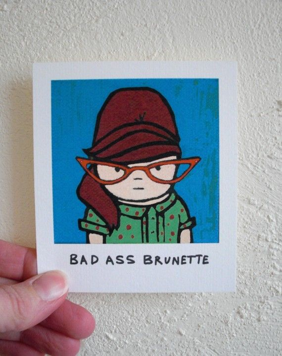 Brunette Funny Magnet 60s Retro Inspired Bad by SimplyCutebyKarin, $6.25