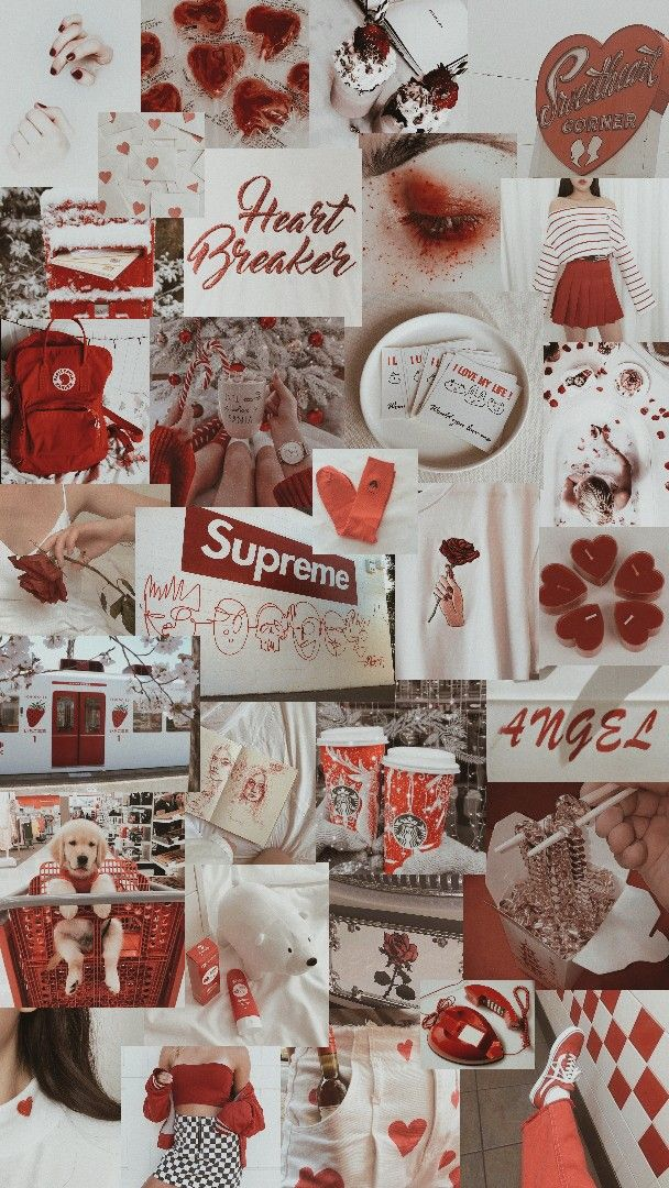 red and white aesthetic | ♡