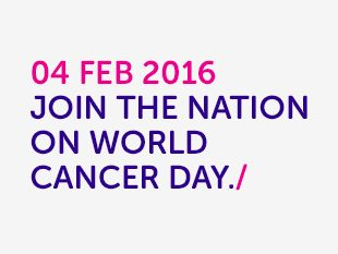 Cancer Research UK - World Cancer Day 04 Feb 2016 - A cause I always support because we as a family have suffered great loss due to this awful  disease ❤️