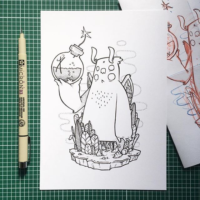 H A T C H - A little one off commission i did a couple of months back.  Did you know you could get a random illustration like this (but totally different) for only £30?! Madness... Maybe have a look at my online shop maybe...? Hatch-art.com/shop