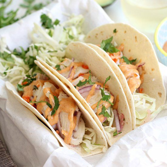 cod fish tacos with southwest sauce gluten free and