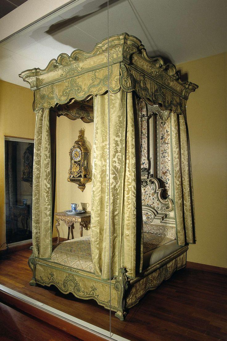 Hemelbed, afkomstig van het kasteel Eerde, anoniem, 1715