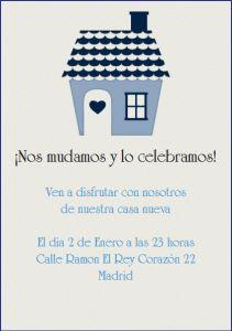 Invitaciones para inauguracion de casa - La Belle Carte