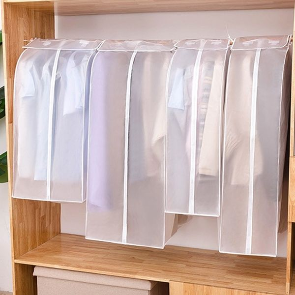Garment Garment Dust Cover Non Woven Hanging Clothes Bag For Storage Clothes Hanging Suit Wish In 2020 Hanging Clothes Wardrobe Storage Decorative Storage Boxes