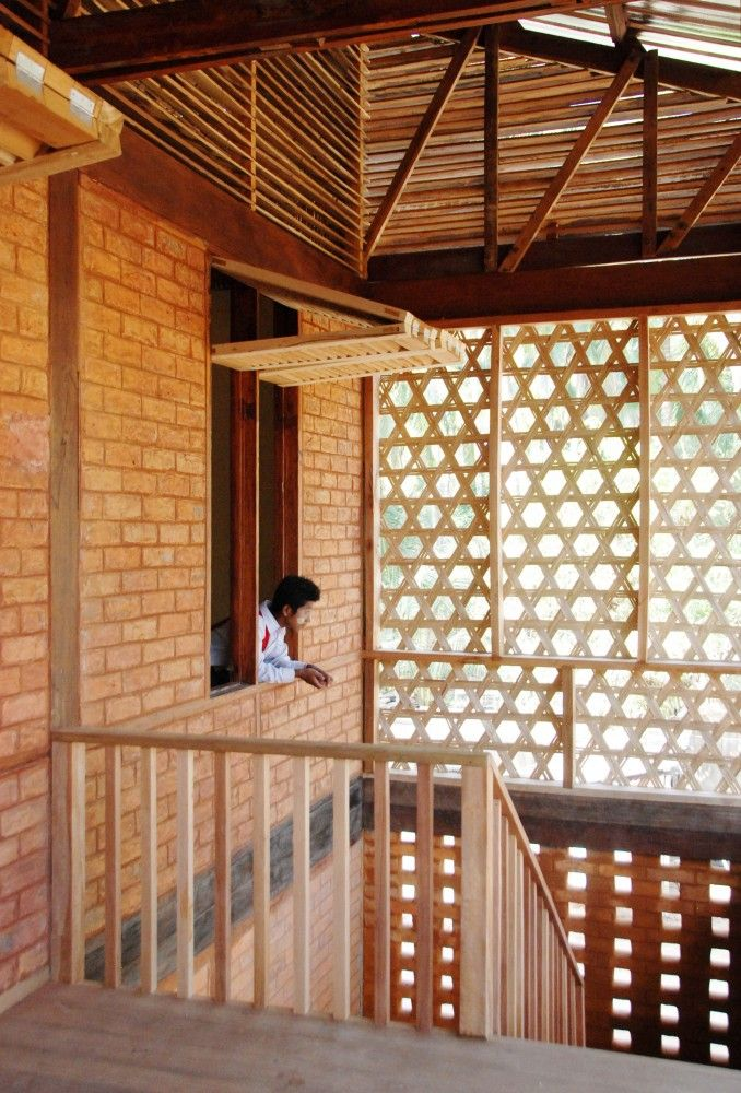 A classic example of form & function.  A rural school in Burma is pleasing to the eye but serves a purpose