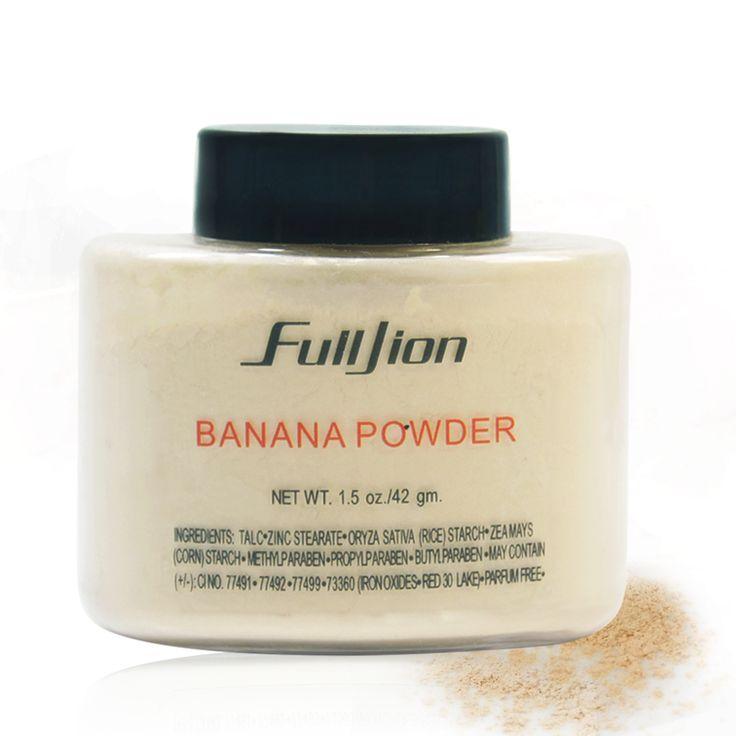 De larga Duración de Plátano Polvo Suelto Polvo Translúcido Blanqueamiento Impermeable Mate Ajuste Cara Corrector de Maquillaje Mineral