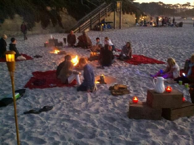 Night Before Party Carmel Weddings California Beach Party