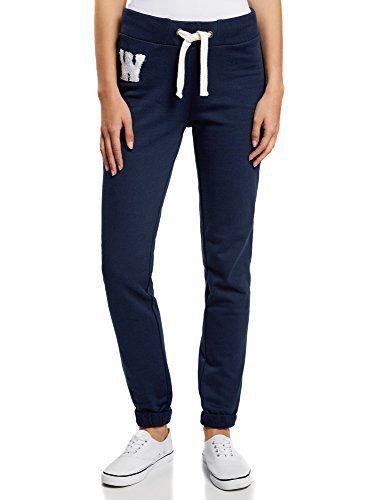 oodji Ultra Femme Pantalon de Sport avec Cordon de Serrage: Les articles de la collection oodji Ultra ont une coupe très ajustée. Veuillez…