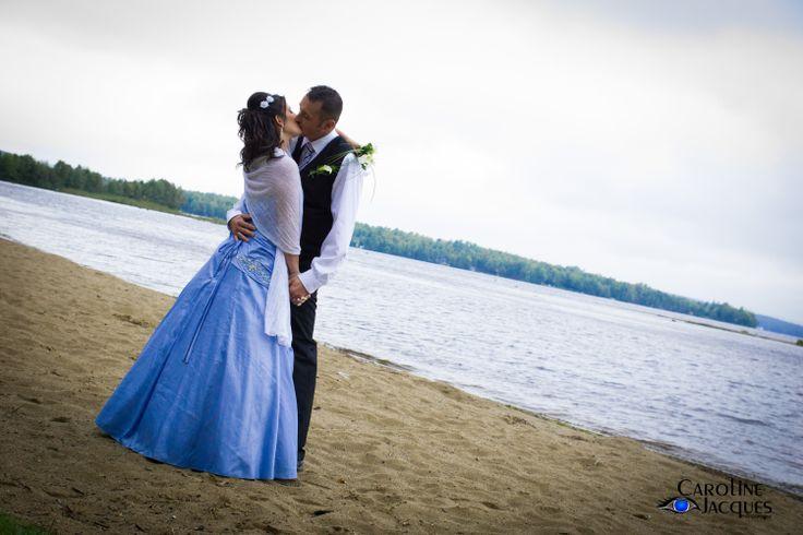 J'ai réalisé cette photo en septembre 2013, sur la plage de Stratford. Mariage de Martine & Serge.