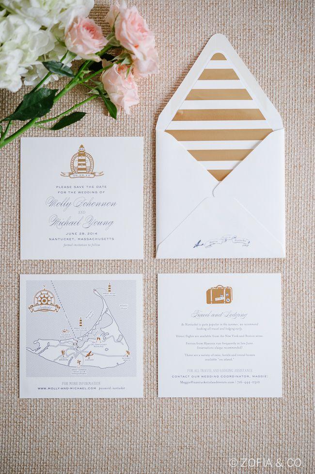 Nantucket Nautical Wedding Invitation