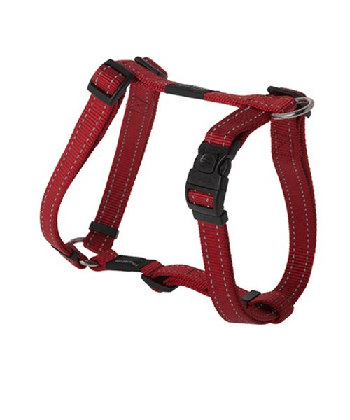 ROGZ UTILITY DOG H-HARNESS - RED. Available from www.nuzzle.co.za