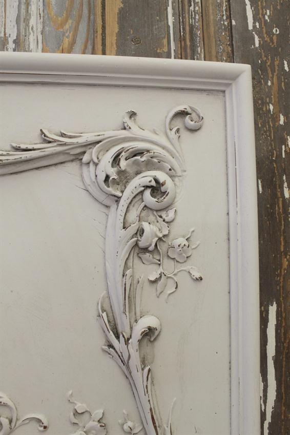 Vintage Carved Wood Plaque from Full Bloom Cottage