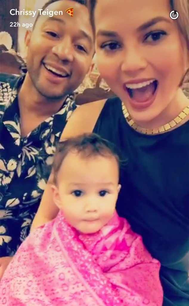 Travel Love Bug from Chrissy Teigen & John Legend's Daughter Luna Is Living Her Best Life  Chrissy Teigen posted this photo from the trio's trip to Morocco on March 17, 2017.