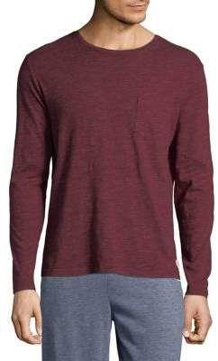 Manguun Heathered Cotton Long Sleeve Tee   #affiliate #menswear #shirts