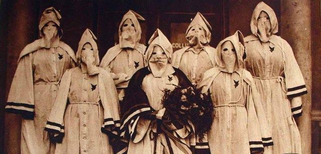 Women of the KKK, 1923. Disturbing part of history.