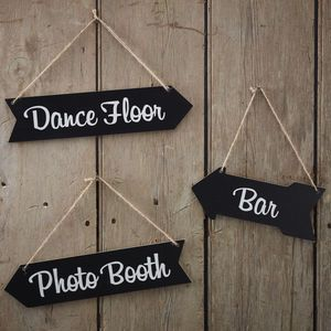 Vintage Style Chalkboard Arrow Decoration Signs