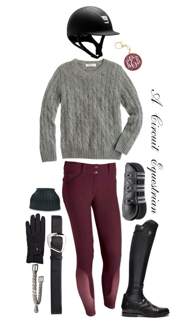 """burgundy and black"" by a-circuit-equestrian on Polyvore featuring J.Crew, Roeckl and rootd"
