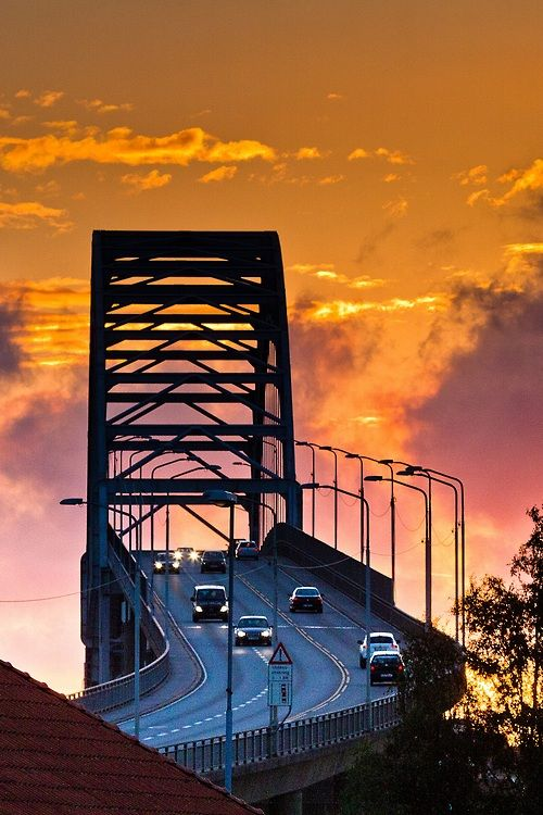 The Fredrikstad Bridge, Norway | by I Harsten - http://www.flickr.com/photos/21139028@N07/9439192044