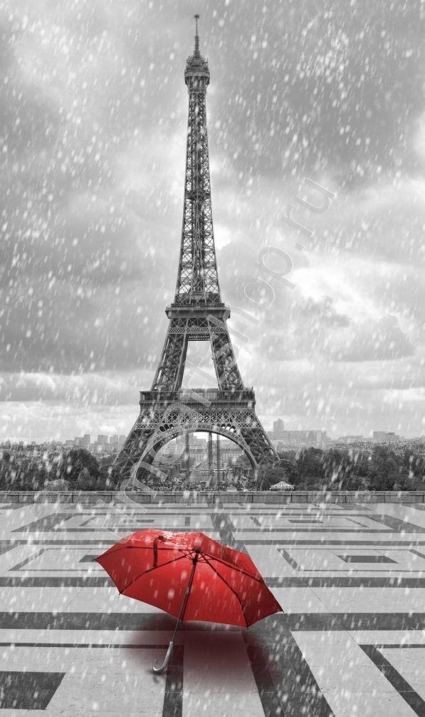 красный зонтик, алмазная мозаика (алмазная вышивка) частичная, картина своими руками