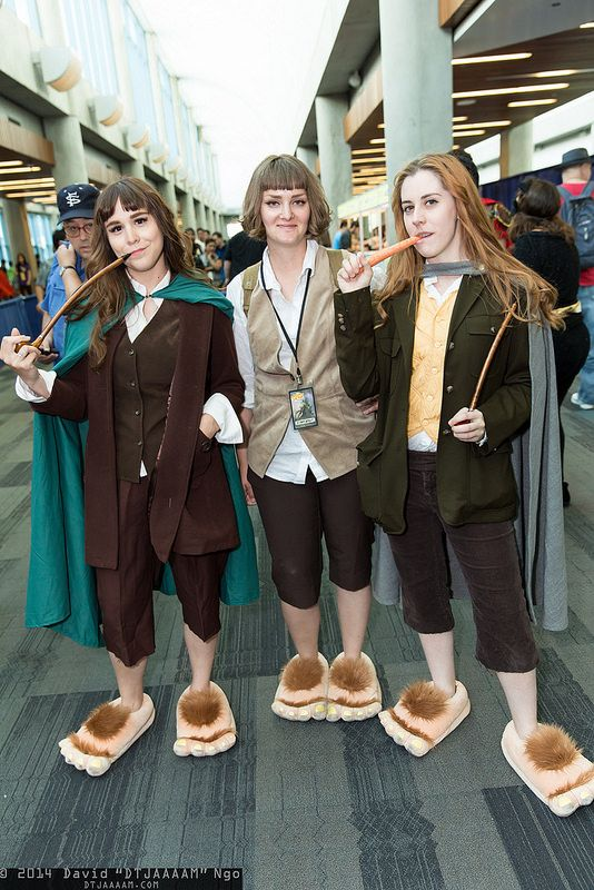 Frodo Baggins, Samwise Gamgee, and Merry Brandybuck #LOTR #BigWow2014