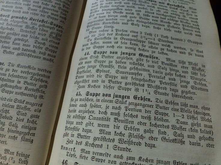 Nothing is quite as German as Pea Soup and Fraktur.