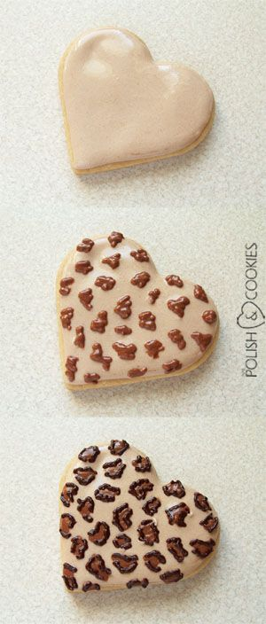 Leopard (Cheetah) Print Cookies - TUTORIAL -  from http://www.polishcookies.pl/
