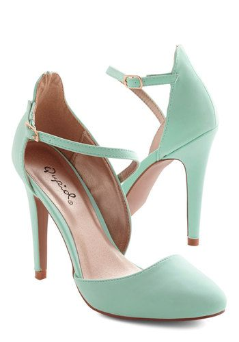 Contemporary Chic Heel - High, Faux Leather, Mint, Solid, Prom, Wedding, Party, Pastel, Good, Bridesmaid