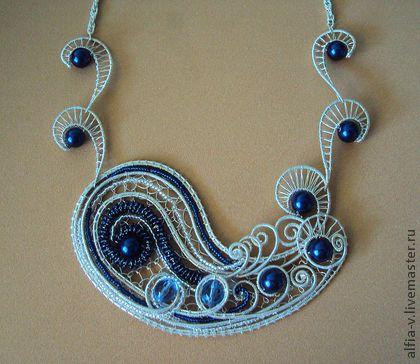 "Necklace, handmade beads.  Fair Masters - handmade Necklace ""Near the island of Buyan.""  Handmade."