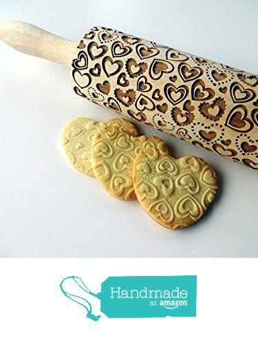 Rolling pin with HEARTS pattern. Embossing rolling pin. Wooden rolling pin for embossed cookies from Sun Crafts https://www.amazon.com/dp/B01KS5DUEY/ref=hnd_sw_r_pi_awdo_b.0UxbNCBKJ9X #handmadeatamazon