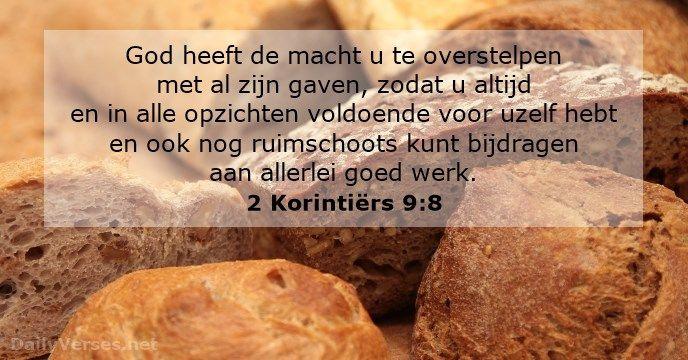 2 Korintiërs 9:8 - dailyverses.net