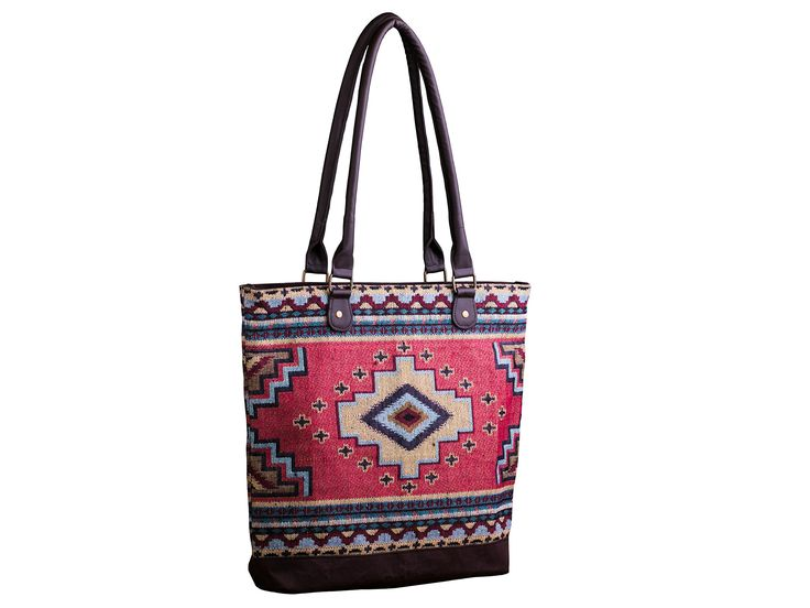 Women's Southwestern Style Geometric Woven Fabric Shoulder Bag, Tote, Purse, Carry-All, Travel Handbag (Lone Star). THOUGHTFUL DETAIL - Thick woven fabric exterior, soft lining, leatherette detailing, and braided zipper pulls add style and durability!. SOUTHWESTERN STYLE - Colors & patterns inspired by the beautiful southwestern United States. SPACIOUS INTERIOR - A large, spacious interior and a smaller interior zippered pocket offer lots of storage and organization. DIMENSIONS - 17 inches…